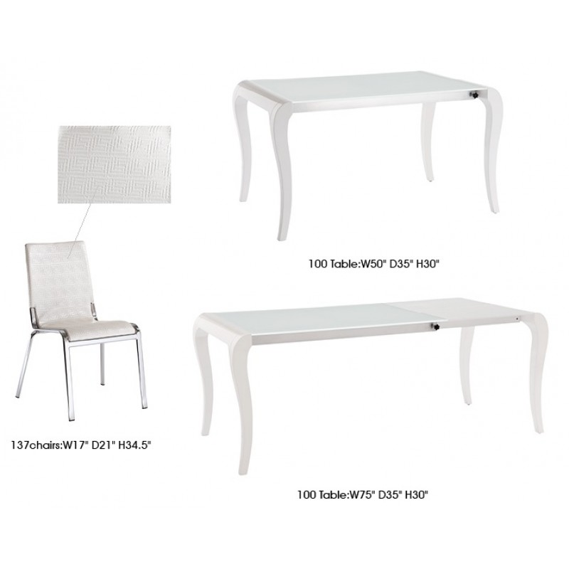 ESF - 100 Table and 137 Chair White