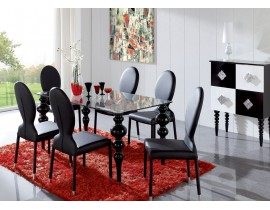 ESF - Black767 table and 1001 chair