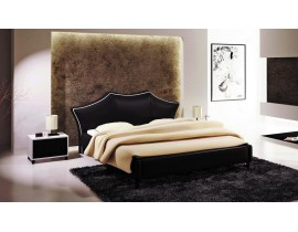 JU - u503 black leather bed