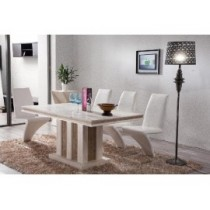 Marble Dining Table Set (5)